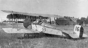 Bristol Scout with sideways mounted LewisGun